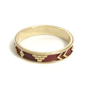 House of Harlow 1960 Aztec Red Leather Bangle